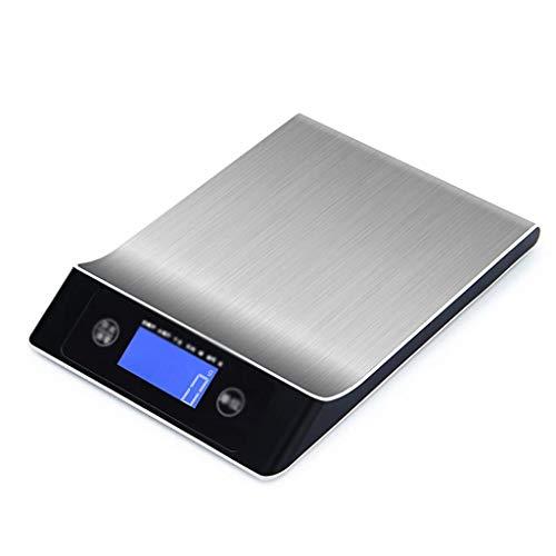 Básculas de cocina digitales, apagado automático, unidades convertibles, función de tara, pantalla LCD, indicación de batería baja, báscula multifuncional para alimentos, negro (10 kg / 1 g), 24,2 x 1