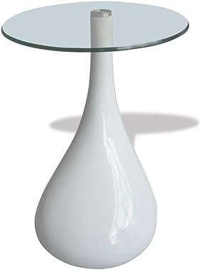 Tidyard Mesa de Centro Mesa de Cristal Mesa de Café de Vidrio para Estar o Dormitorio Diseño de Modernidad Vidrio de Segurida