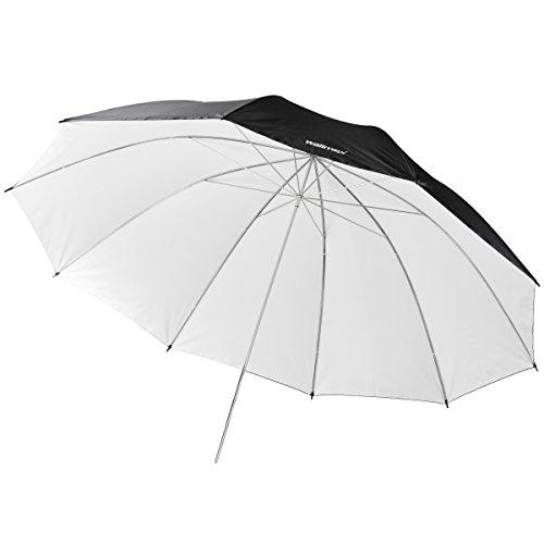 Walimex Pro - Ombrello riflettente 150 cm, colore: Nero/Bianco
