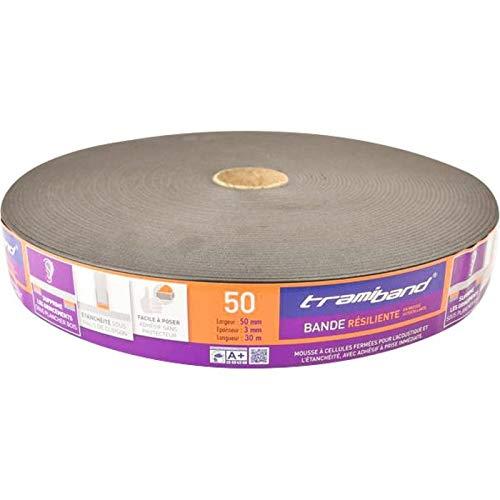 Tramiband Schalld/ämmende Schalld/ämmende Streifen mit 70 mm Breite Rolle 30 m