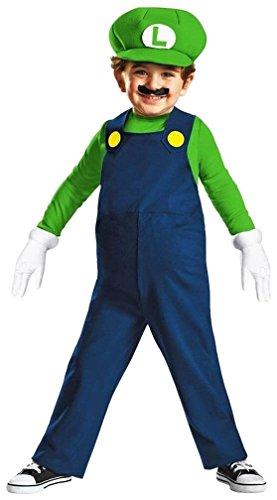 Nintendo Super Mario Brothers Luigi Boys Toddler Costume