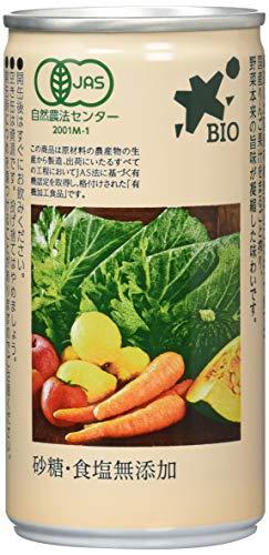 ビオマーケット ビオマルシェ 有機野菜・果実ミックスジュース 190g ×30本