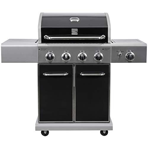 Kenmore PG-A40409S0LB 4 Outdoor Patio Gas BBQ Grill with Searing Burner, Black