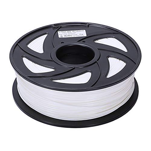 Auartmetion 1pc 3D-Drucker 1KG Drucken Filament 1.75mm PLA Weiß, 1 Rolle (Farbe : Weiß)