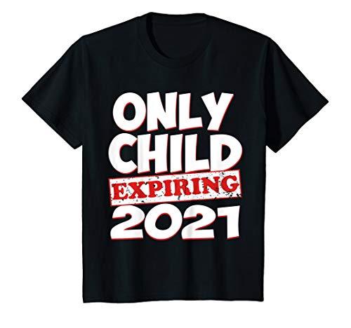 Kids Only Child Expiring 2021 Shirt Boys Girls Big Bro Sis Gift T-Shirt
