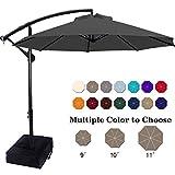 ABCCANOPY Patio Umbrellas Cantilever Umbrella Offset Hanging Umbrellas 10 FT Outdoor Market Umbrella...