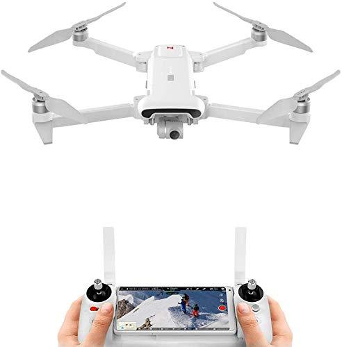 FIMI X8 SE 2020 Kit drone pieghevole Desgin 8 km Gamma 4K Fotocamera UHD 100 Mbp Video HDR 35 minuti Tempo di volo FlyCam Quadricottero UAV Tracciamento GPS Telecomando intelligente (Bianca-1Batteria)