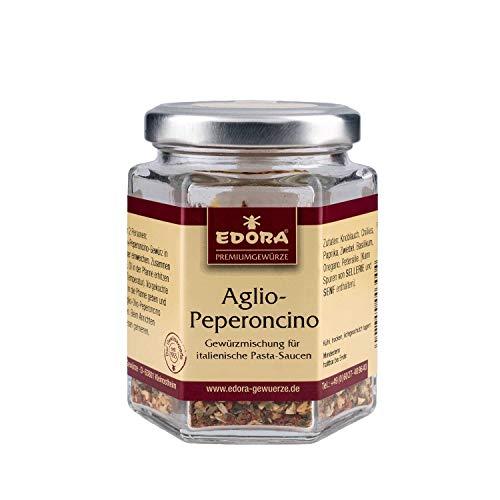 Premium Qualität Gewürz EDORA Schraubglas Aglio-Peperoncino Gewürzmischung Spaghetti Aglio Peperoncino (scharf) 65 Gramm