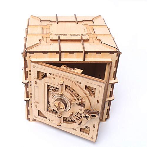 Gjliwu DIY houten puzzel box Magic Box bouwsteen schatkist meisje opbergdoos sieradendoos