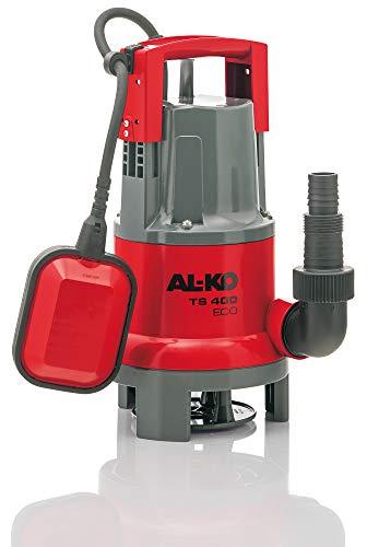 AL-KO Schmutzwasser-Tauchpumpe TS 400 ECO, 400 Watt Motorleistung, Fördermenge max. 8.000 l/h, Flachabsaugen bis 45 mm, rot