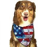 Wfispiy Perro pañuelo Mascota Bufanda día de la Bandera Nacional Classic Pet Bandana Mascotas Collares para Perro Gato un tamaño