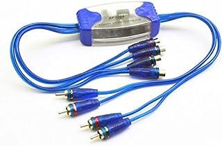SODIAL 通用4チャンネルRCA入力出力グランドループアイソレーターラインサウンドエリミネーター、ノイズフィルターアダプター、車載オーディオ用