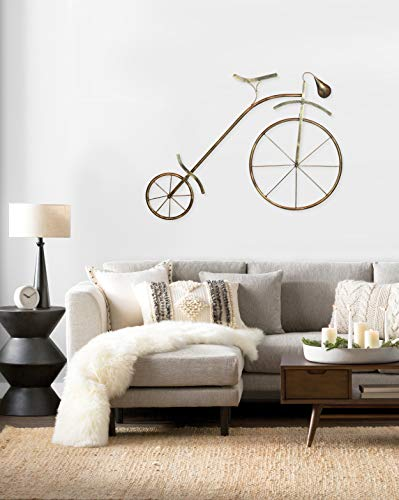Collectible India Iron Cycle Wall Mounted & Hanging Decor Contemporary Bicycle Showpiece Modern Arts Sculpture(Size 50 x 36 Inches)