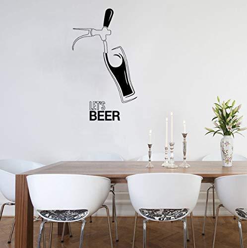 Muursticker Bar Club Bier Patroon Muursticker Venster Logo Art Mural Party Drink Lijm Verwijderbaar Creatief Decor 42X73Cm