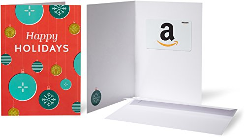 Amazon.com Gift Card in a Greeting Card (Holiday Ornaments Design)