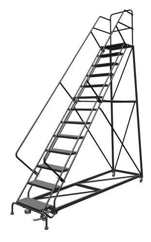 Tri-Arc UKDEC113246 U-Design Configurable 13-Step Forward Descent Incline Rolling Ladder with 24