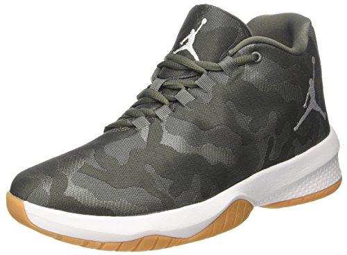 NIKE Jordan B. Fly, Scarpe da Basket Uomo, Grigio (River Rock/White-Dk Stucco-Gum), 41 EU