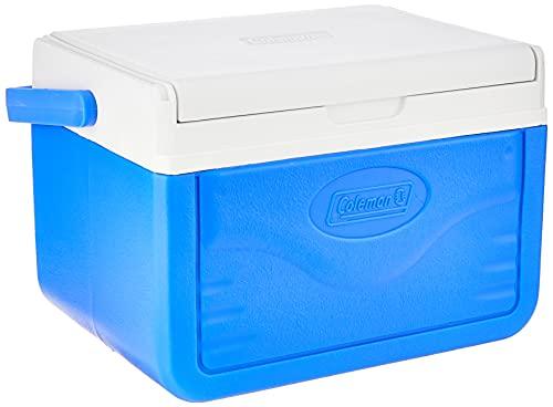 Coleman Unisex-Adult Performance 6 Personal Kühlbox, passive kleine Thermobox für Essen und Getränke, Eisbox mit Griff, blau/weiß, One Size