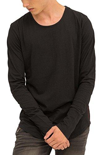 Trueprodigy Casual Homme Tee Shirt Manche Longue uni Basique, Vetements Swag Marque col Rond (Manche Longue & Slim fit Classic), Shirt Mode Fashion Co