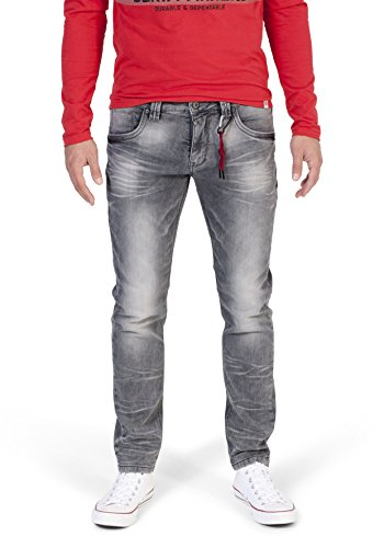 Timezone Herren Eduardo Jogg Slim Jeans, Grau (Light Grey Wash 2085), W33/L34