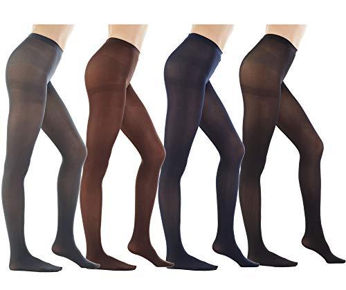 STYLEGAGA Womens 80 Denier Footed Pantyhose Tights