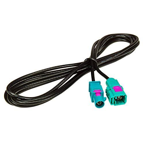 tomzz Audio 1600-012 Fakra Antennen-Verlängerung 2m 200cm Fakra Stecker (M) auf Fakra Buchse (F), Kabel RG174, Typ Z codiert