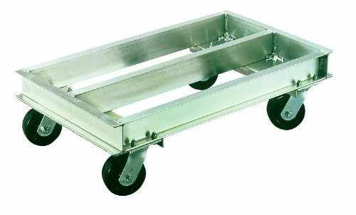 """Magliner CDC2136 Aluminum Caster Dolly, High Strength, 2000 lb Capacity, 36"""" Length x 21"""" Width x 10"""" Height"""