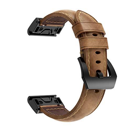 Neubula - Correa de repuesto compatible con Garmin Fenix 5X, 5X Plus, Fenix 3/3 HR, correa ajustable para hombres y mujeres marrón marrón