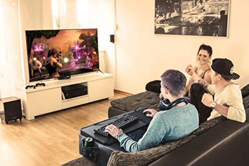 Couchmaster CYCON Look-Cuir Black Edition - Le support pour jouer sur le canapé avec souris et clavier (pour PC / PS4 / XBOX One)