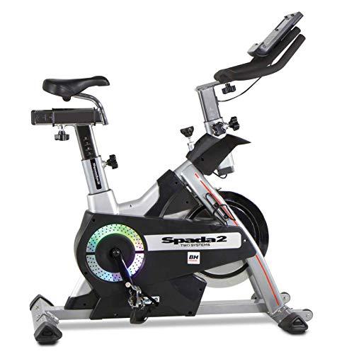 BH Fitness i.SPADA 2 H9355I Indoor Bike - Magnetica e a frizione - Fitness apps - 12 Profili predefiniti (Prg), 24 Livelli d'intensità