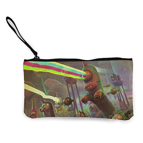 FIRS Lazer Unicorn Zombies World Damen Geldbörse aus Segeltuch mit Reißverschluss, 11,4 x 21,6 cm