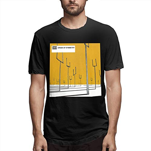 Muse Origin of Symmetry Classic Breathable Crew T Shirt Soft Short Sleeve Mens Casual T-Shirt Black 5X-Large