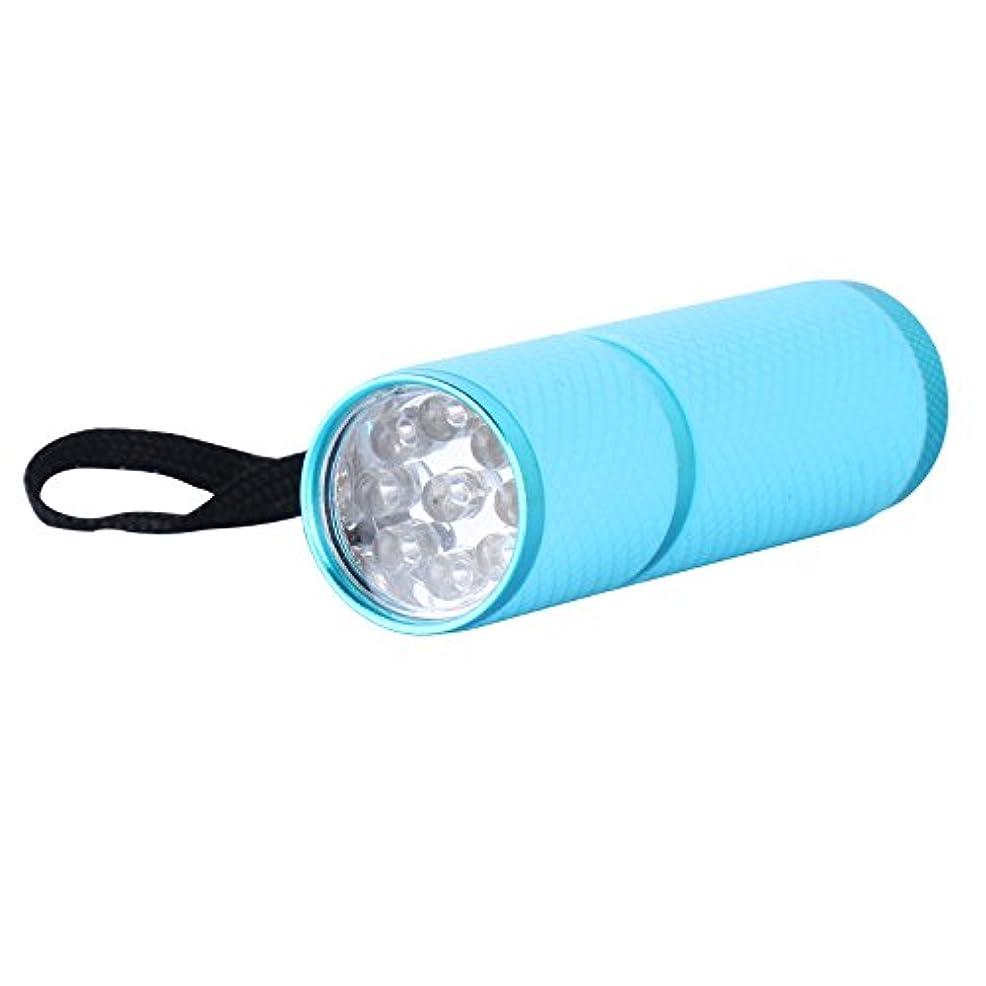 フォアマンプラカードスリルジェルネイル ライト ペン型 9w ブルー 9灯付き 速いネイル硬化 UVジェルも対応 4色選べる (ブルー)