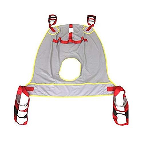 Z-SEAT Mesh-Ganzkörper-Kommodenschlinge, Toilette für Patientenlifte Mesh-Schlinge mit Kommodenöffnung und Kopfstütze für medizinische Liftausrüstung für den Bariatric Comm