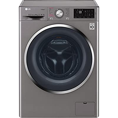 LG F4J6JY2S Rated Freestanding Washing Machine - Graphite