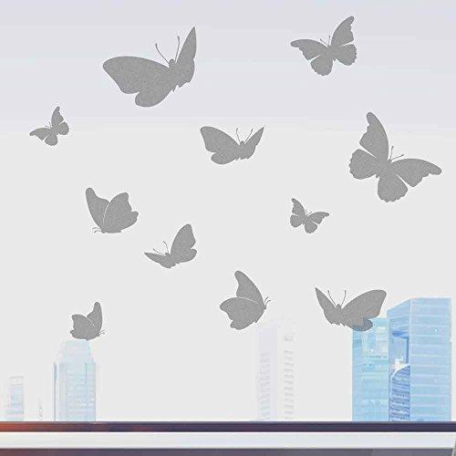 wandtattoo-factory Schmetterlinge Glasdekorfolie Milchglaseffekt