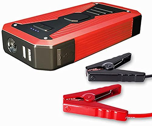 Arrancador de Coches, 10000mAh Coche portátil Power Power Starter, Amplificador de Emergencia de la batería de 12V del automóvil, con Puerto USB/Tipo C-Port/Linterna LED, para Viajes, Camping, WQ