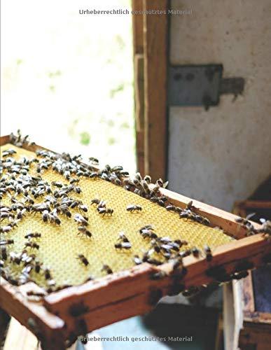 Imker Tagebuch: Honig Journal zum Nachweis und Dokumentation der Hygiene I Vorlagen zur Eigenkontrolle in der Imkerei I Notizbuch für alle Imker zum Honig schleudern I A4+ Format I Motiv: Bienenwabe