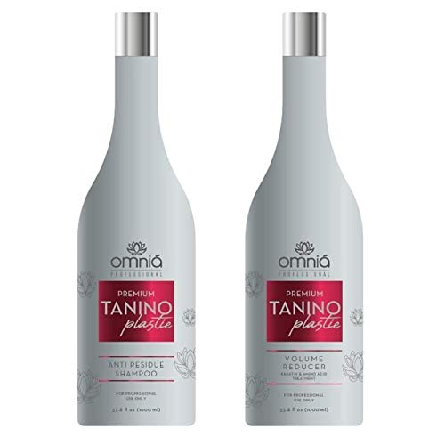 OMNIA PROFESSIONAL - TANINOPLASTIE - Lissage au Tanin (KIT 1000 ml - Step 1 + Step 2)