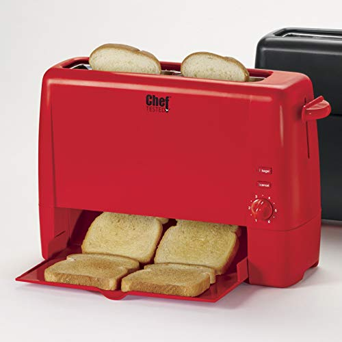Chef Tested Quick Serve Toaster by Wards, Red from Montgomery Ward