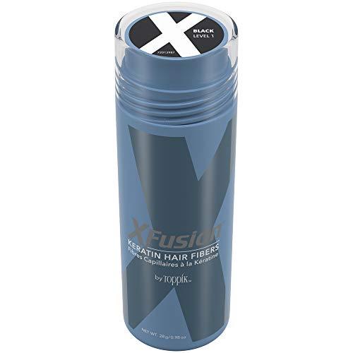 XFusion Keratin Hair Fibers, Black, 0.9877 Ounce