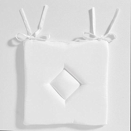 Today Galette Classique Chantilly Polyester Blanc 40 x 40 x 3 cm