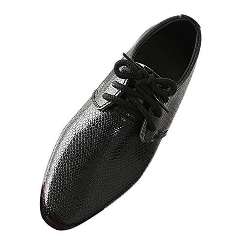 Lederschuhe Junge Kinder Schuhe Britischer Stil Schnürhalbschuhe Elegant Oxford Anzug Smoking Lackleder Brogue Schuhe Hochzeit Derby Leder Anzugschuhe Tango Tanzschuhe Studenten Männer Unisex Piebo