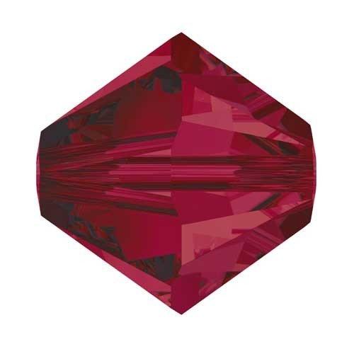 4mm Swarovski Kristall Xilion Ruby Perlen, 100Stück