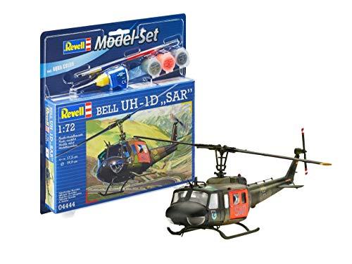 Revell-Model Set Bell UH-1D SAR maqueta con Colores básicos, Pegamento y Pincel, barnizar (64444)