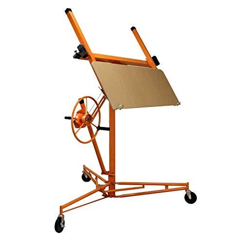 Elevador de Pladur 3.5m Elevador Profesional para Placas de Yeso de Montaje de Placas de Yeso Plegable, Elevador de Hierro para Techo y Pared, Carga de 68 kg