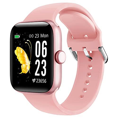 """LIFEBEE Smartwatch, 1,54"""" Reloj Inteligente Impermeable IP68 para Mujer Hombre, Pulsera de Actividad con Pulsómetro Monitor de Sueño Podómetro Calorías, Monitores Actividad Deportivo para Android iOS"""