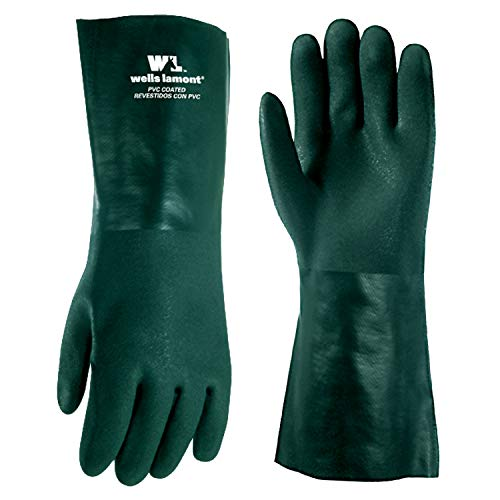 Heavy Duty PVC Chemical Gloves, One Size (Wells Lamont 167L)