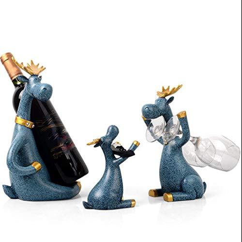 Casier À Vin Décoration Porte-verre À Vin Cabinet Ornements Creative Crémaillère Nouvelle Maison Cadeaux Accessoires 8 Styles (Couleur : B)