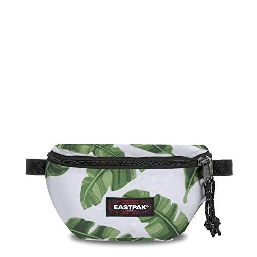 Eastpak Springer Riñonera, 23 cm, 2 L, Blanco (Brize Leaves Natural)
